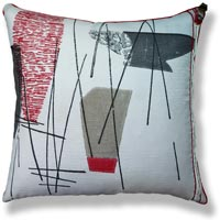 black and white retro vintage cushion