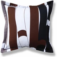 black and white retro vintage cushion 662