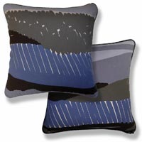 blue abstract vintage cushion 809