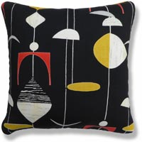 black and white retro vintage cushion 882