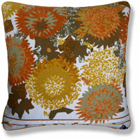 yellow abstract vintage cushion 890