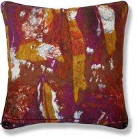 orange retro vintage cushion 895