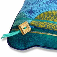 blue retro vintage cushion 896