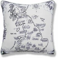 black and white royal vintage cushion