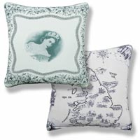 black and white royal vintage cushion 1005
