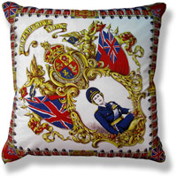 red royal vintage cushion 321 Front