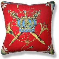 red royal vintage cushion 321 Back