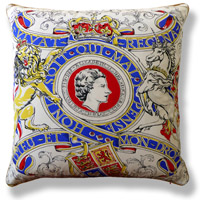 blue royal vintage cushion 516 Front