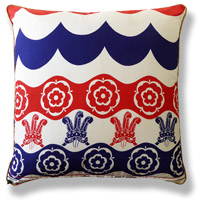 blue royal vintage cushion 516 Back