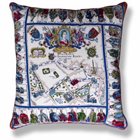 blue royal vintage cushion 658 Front