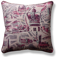 pink royal vintage cushion 712 Front