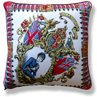 red royal vintage cushion 721 Front