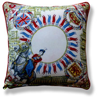 red royal vintage cushion 721 Back
