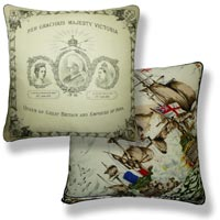 black and white royal vintage cushion 759