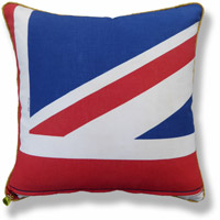 cyan royal flag vintage cushion 764 Back