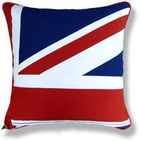 blue royal flag vintage cushion 767 Back