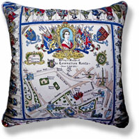 red royal vintage cushion 833 Back
