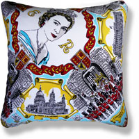cyan royal vintage cushion 835 Front