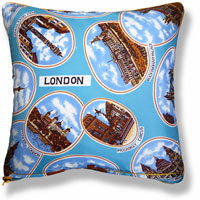 cyan royal vintage cushion 835 Back