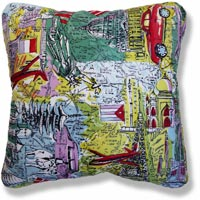 green travel vintage cushion 568