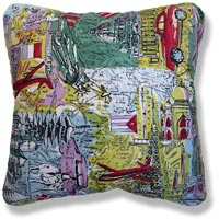 green travel vintage cushion 569