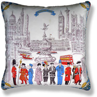 black and white travel flag vintage cushion 731 Back