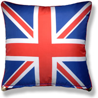 black and white travel flag vintage cushion 731 Front