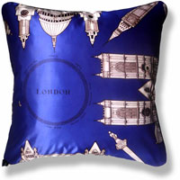 blue flag vintage cushion 828 Back