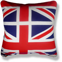 blue flag vintage cushion 828 Front